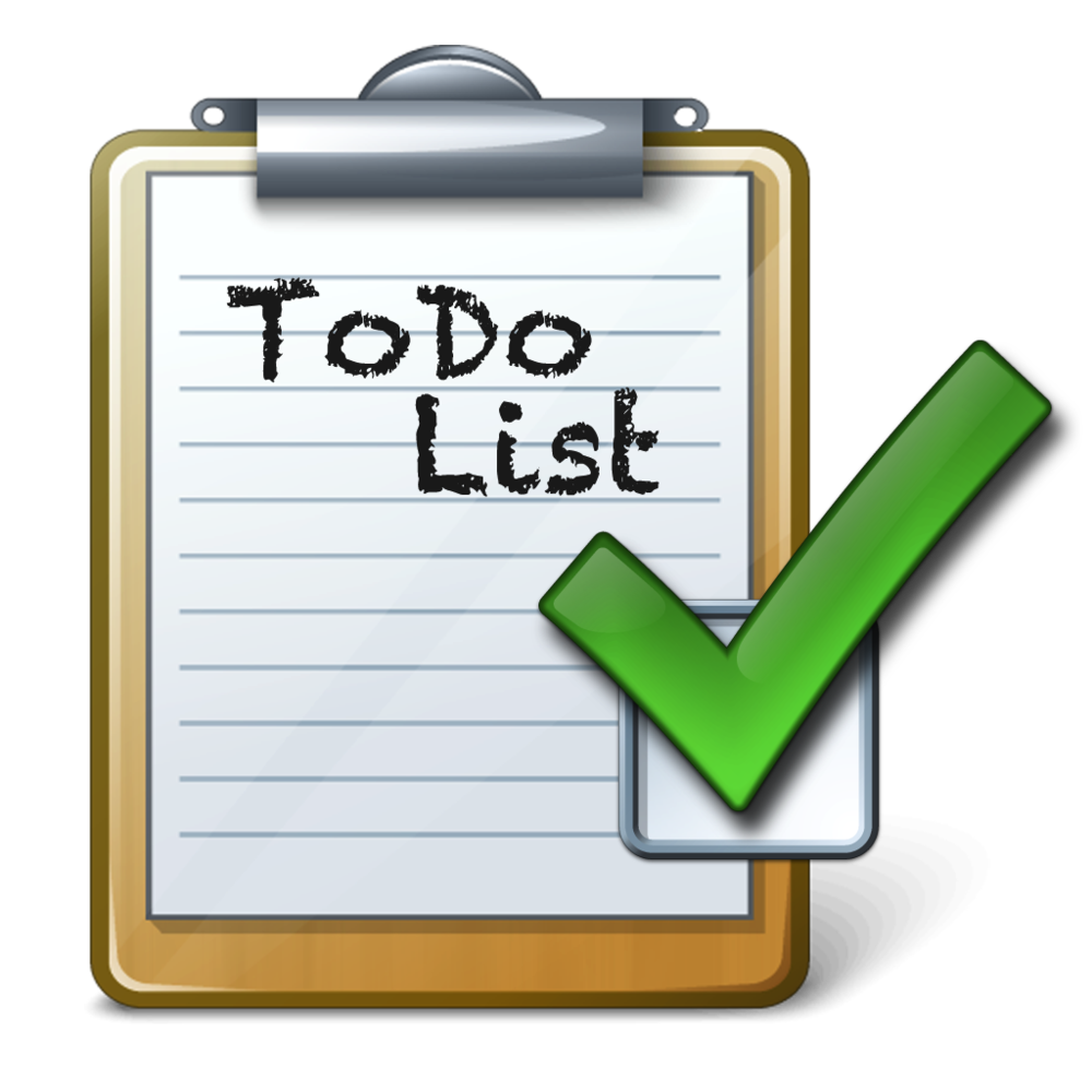Motivation clipart to do. List group things free