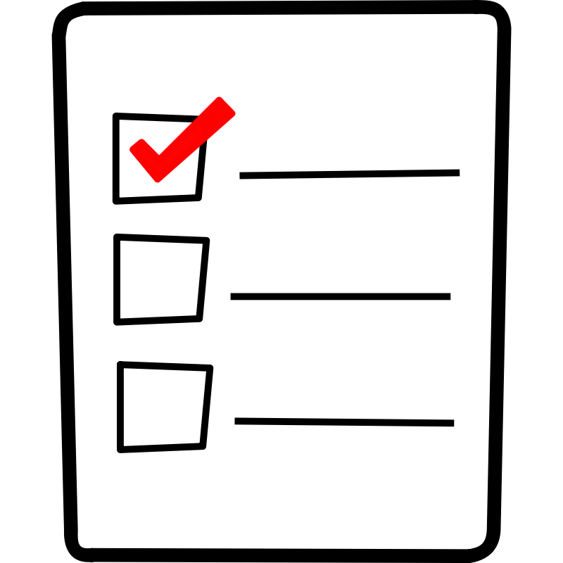 Checklist clipart transparent background, Checklist transparent background  Transparent FREE for download on WebStockReview 2021