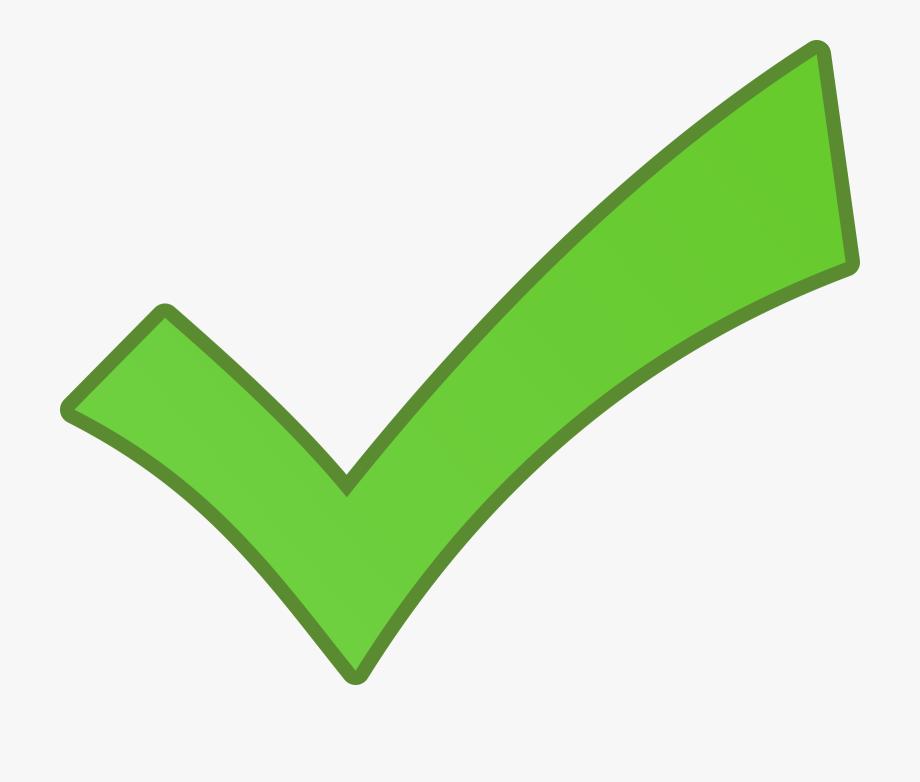 Green clip art check. Checkmark clipart