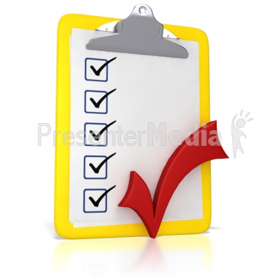 Clipboard with a business. Checkmark clipart board