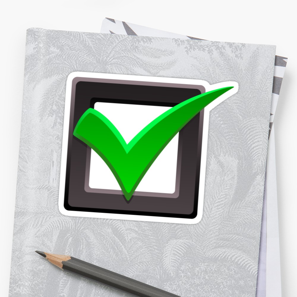 Checkmark clipart board. Green check mark and