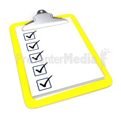 Checkmark clipart board. Clipboard with five checkmarks