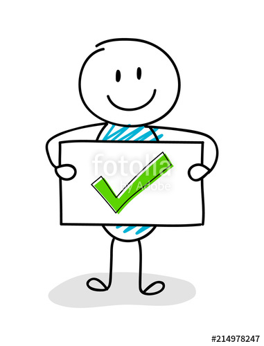 Checkmark clipart board. Smiley stickman holding with