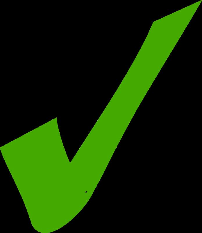 Checkmark clipart correct tick. Green medium image png
