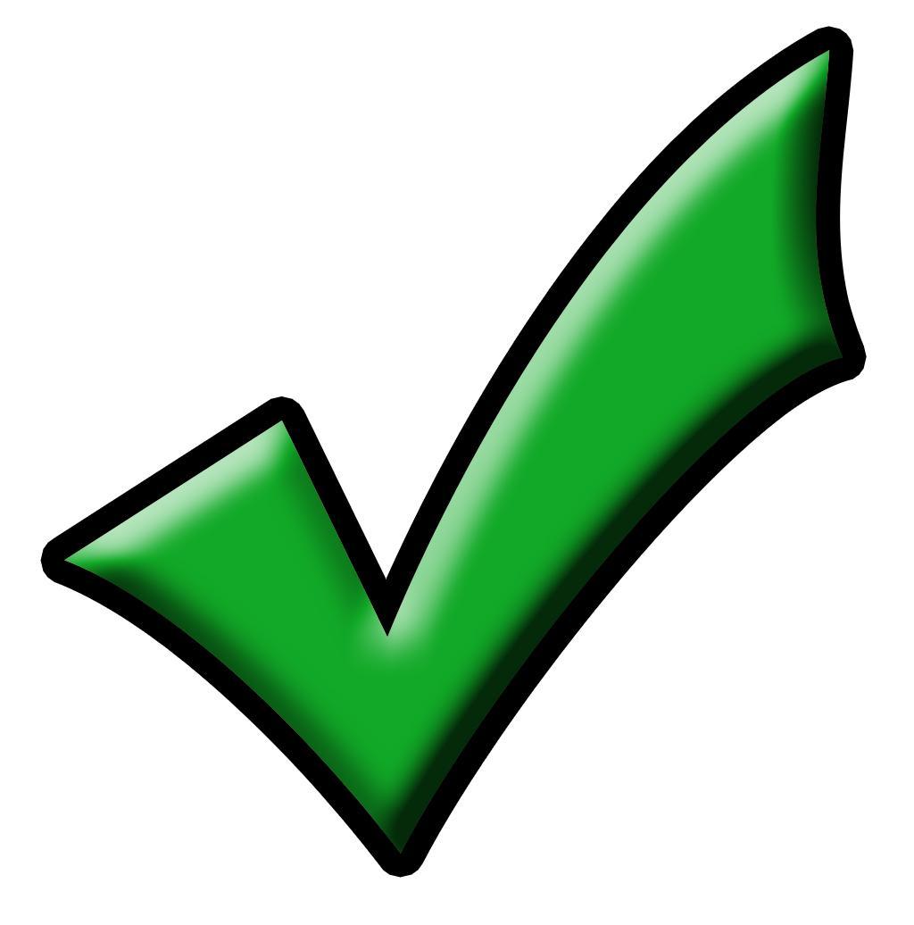 Checkmark clipart green. Free tick mark download