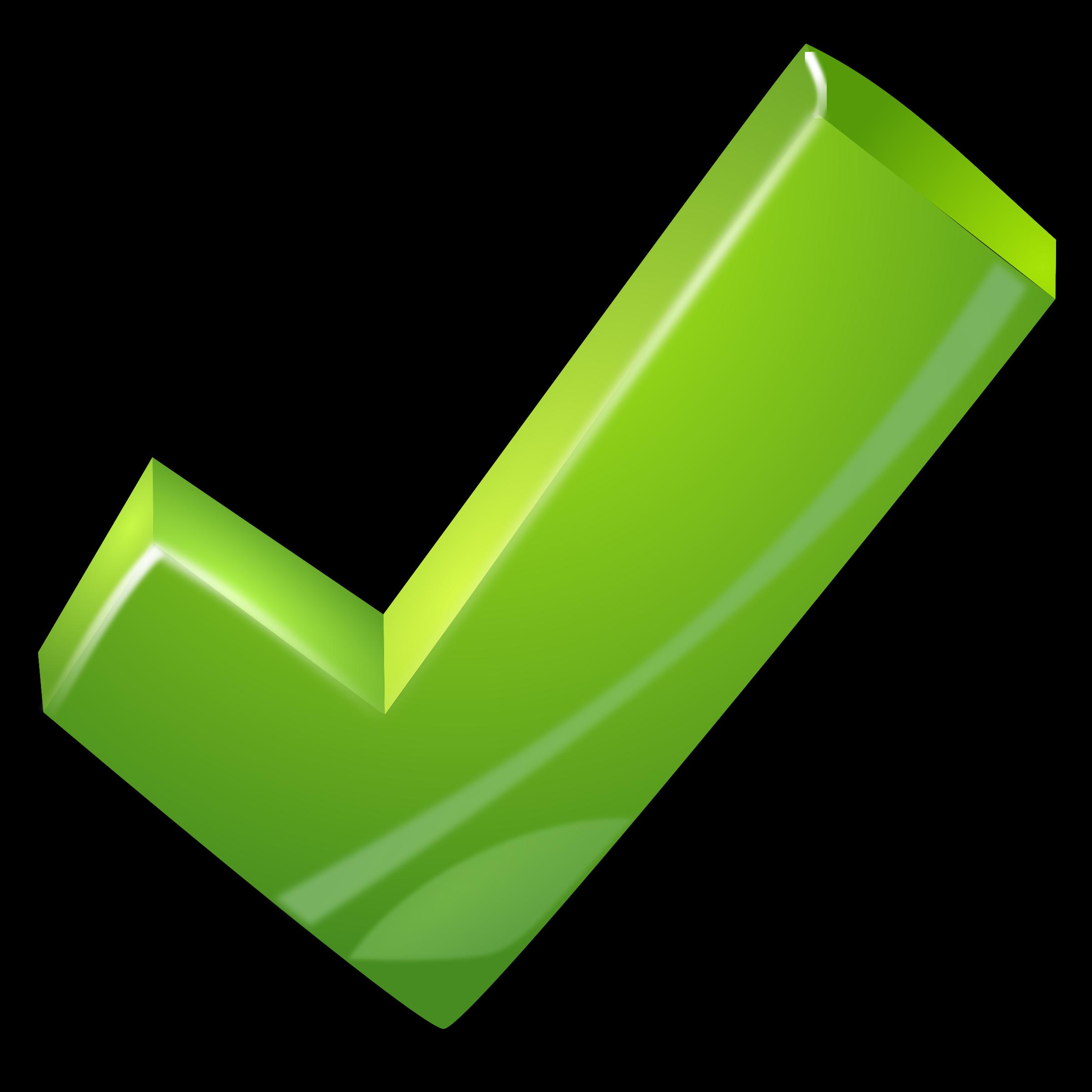 Tick big image png. Checkmark clipart green