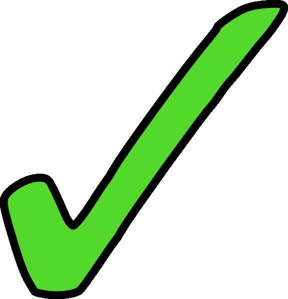 Bright tick clip art. Checkmark clipart green