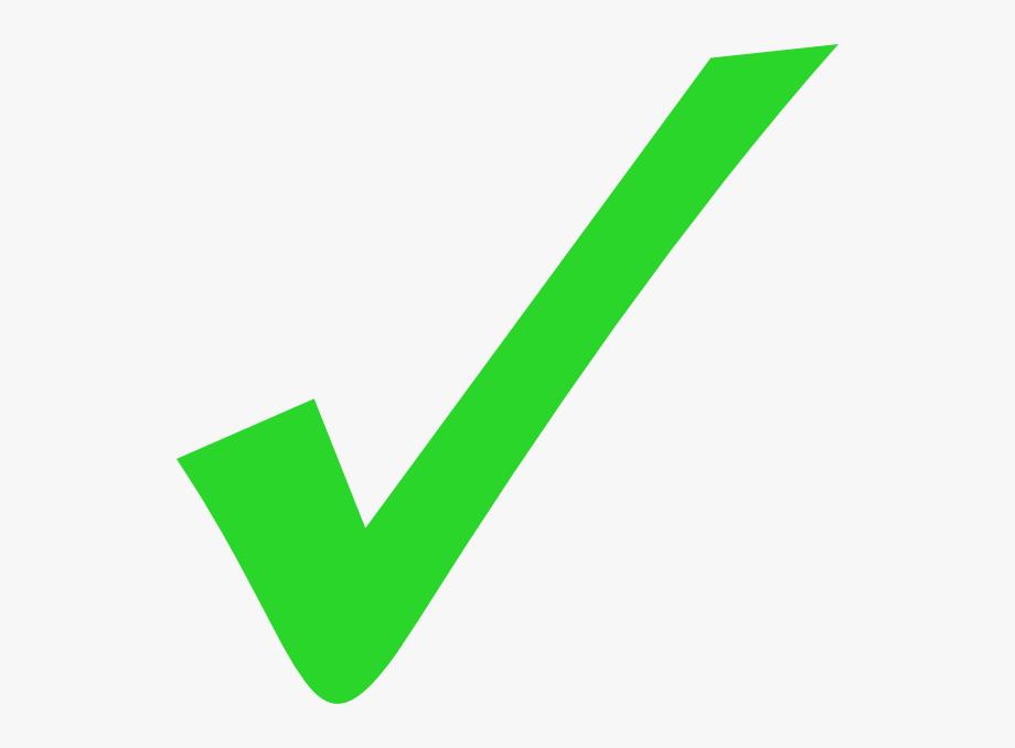 Info tick png transparent. Checkmark clipart green