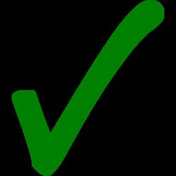 Check mark icon free. Checkmark clipart green