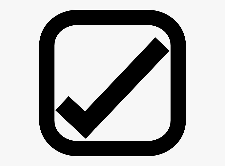 Checkmark clipart in box. Check with tick free