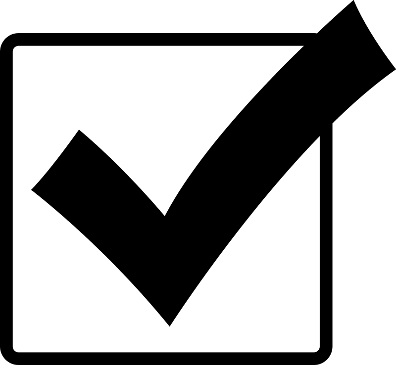 Roger mackay has his. Checkmark clipart in box