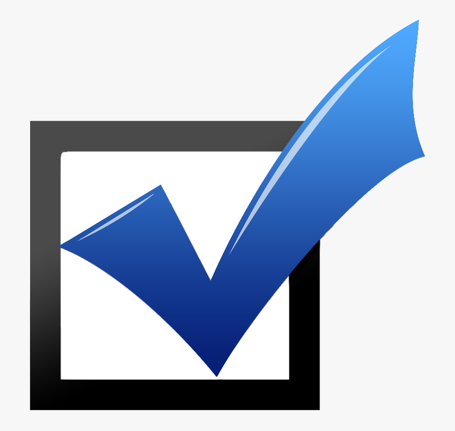 Checkmark clipart in box. Blue check mark images