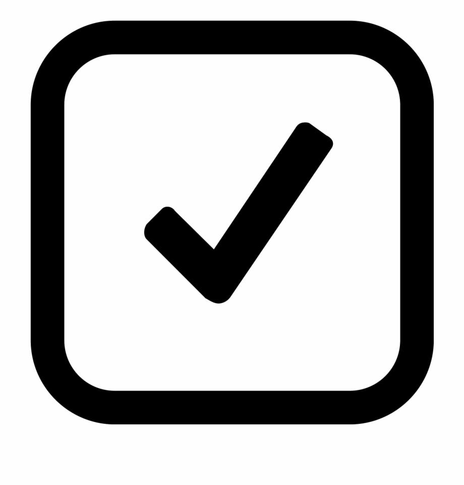 Tick icon square png. Checkmark clipart in box