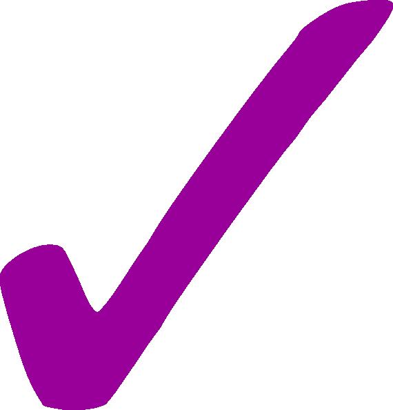 Checkmark clipart purple. Check mark png clip