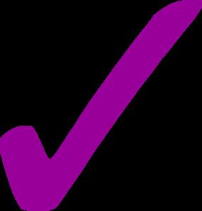 Check mark . Checkmark clipart purple
