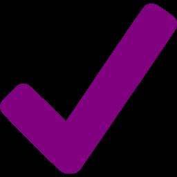 Checkmark clipart purple. Icon free check mark