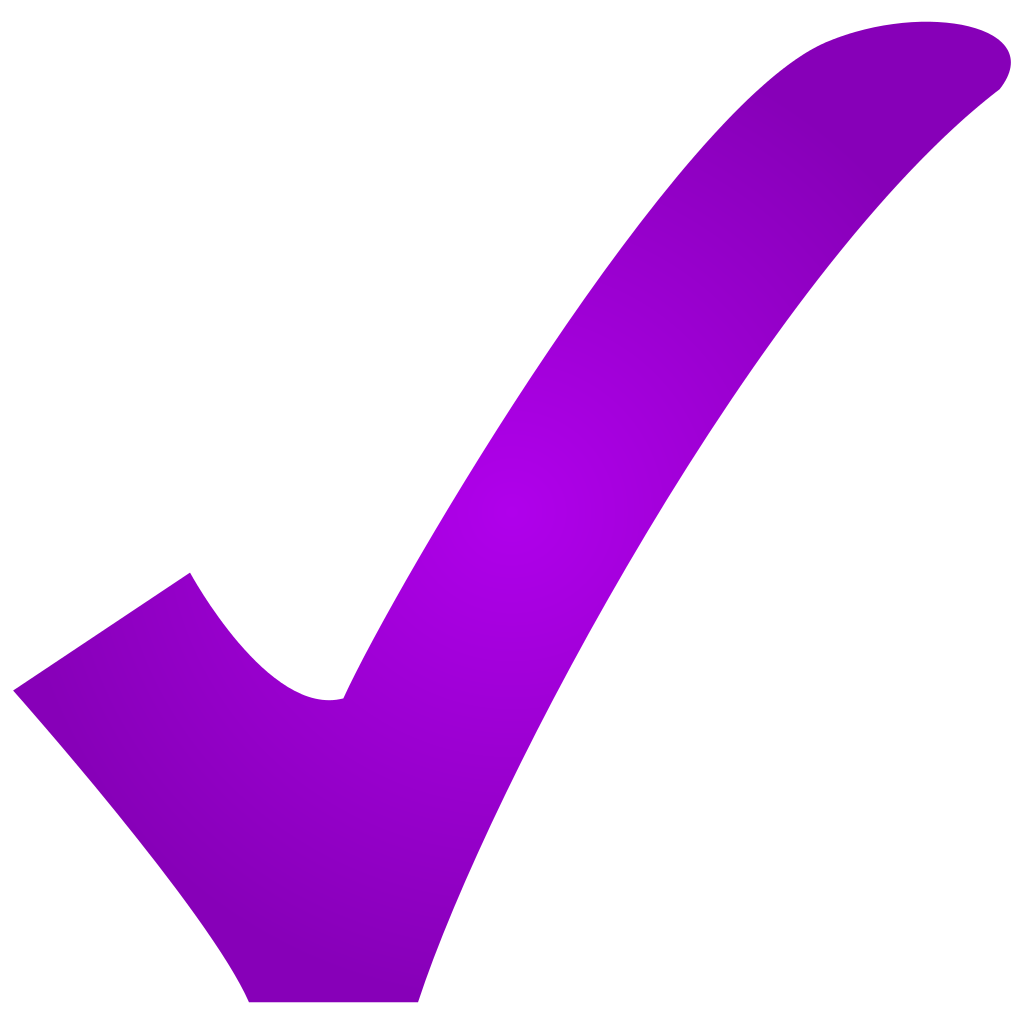 Checkmark clipart purple. Check mark images gallery