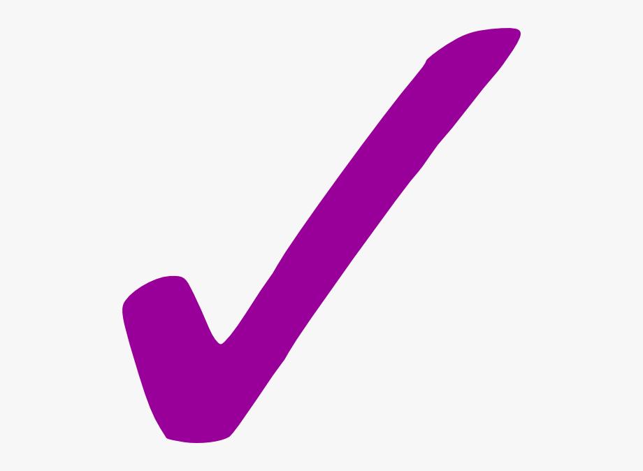 Tick by samuel check. Checkmark clipart purple