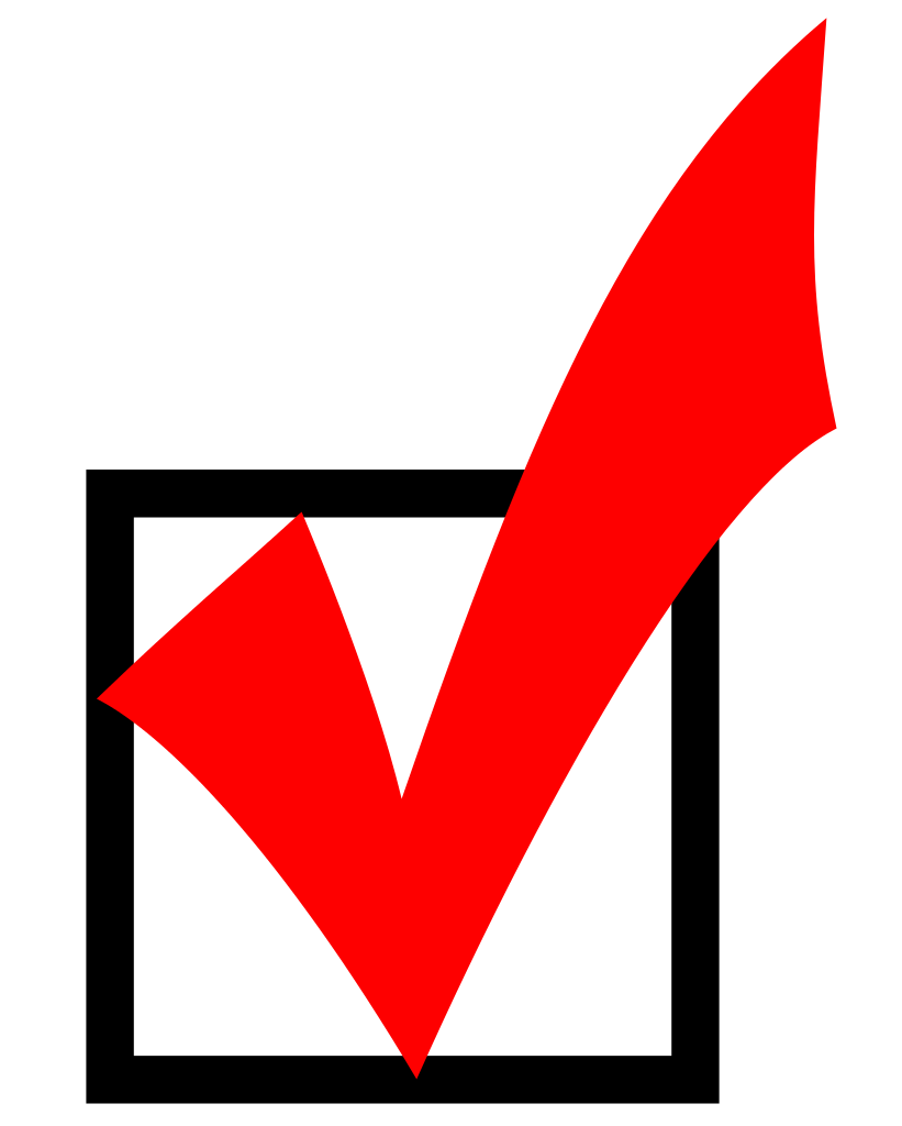 Voting clipart volunteer. File red checkmark svg