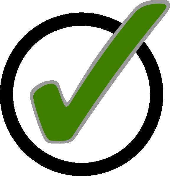 Green in circle clip. Clipboard clipart check mark