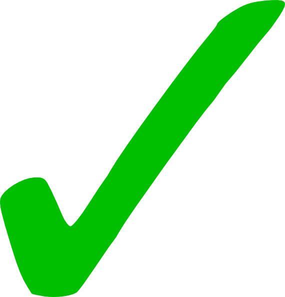 Transparent green checkmark clip. Check mark icon png