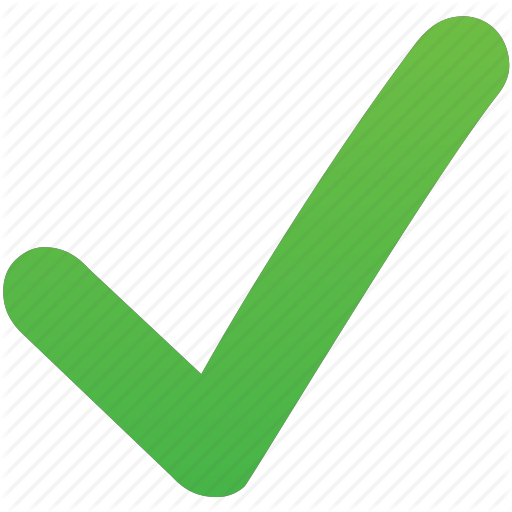 Green check mark line. Checkmark clipart validation