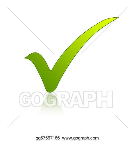Checkmark clipart validation. Drawing green check mark