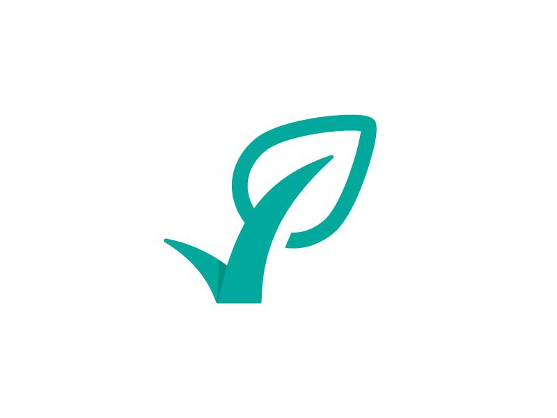 Check mark leaf logo. Checkmark clipart validation