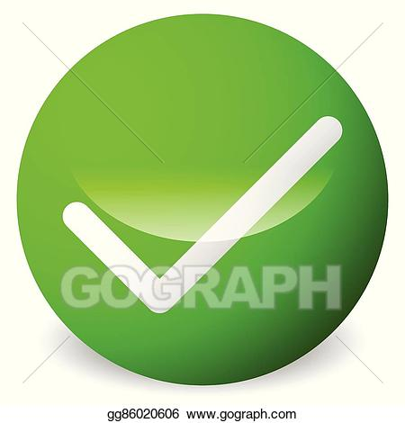 Checkmark clipart validation. Eps vector circle with