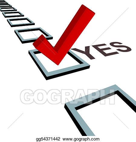 Checkmark clipart vote. Vector illustration check mark