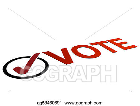 Stock illustration perspective sign. Checkmark clipart vote