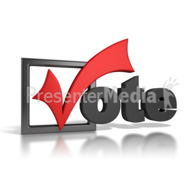 Checkmark clipart vote. Signs and symbols great