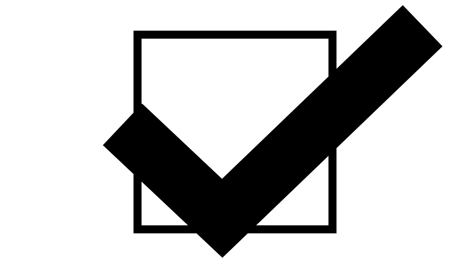 Tick in ballot box. Checkmark clipart vote