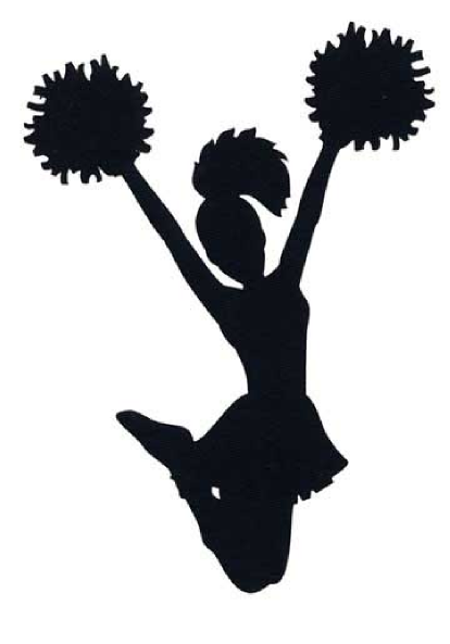 Free cheer sillohette clip. Cheerleading clipart