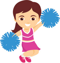 Cheer clipart. Free cheerleading clip art
