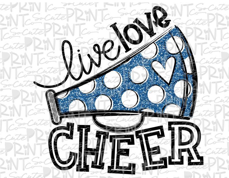 Live love football mom. Cheer clipart