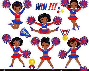 Clip etsy digital set. Cheerleader clipart