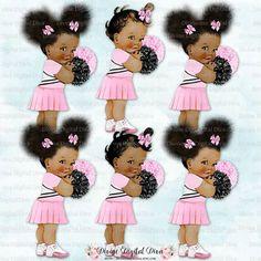 Cheer clipart baby. Cheerleader pink white black