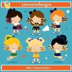 Blue cheerleaders great for. Cheer clipart baby