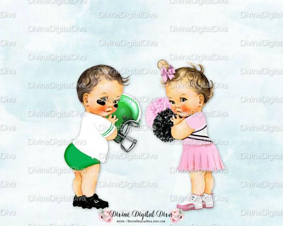 Vintage football cheerleader light. Cheer clipart baby