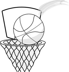 Hoop clip art black. Cheer clipart basketball