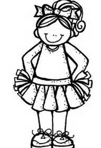 Free cheerleading clip art. Cheer clipart black and white