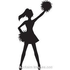 Cheerleader free download best. Cheer clipart black and white