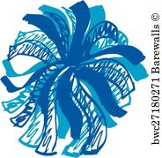 posters and art. Cheer clipart blue