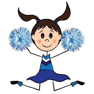 Cheerleader . Cheer clipart cartoon