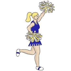 Cheers clipart animated. Cheer cheerleader clip art