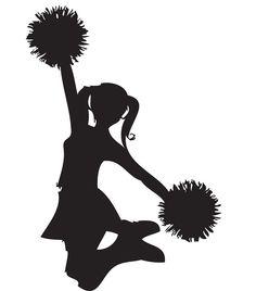 Cheer clipart cheerleading. Free sillohette clip art