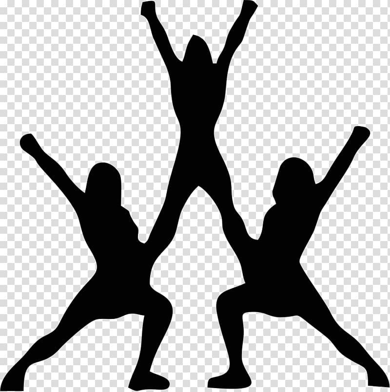 Silhouette of cheerleader illustration. Cheer clipart cheerleading