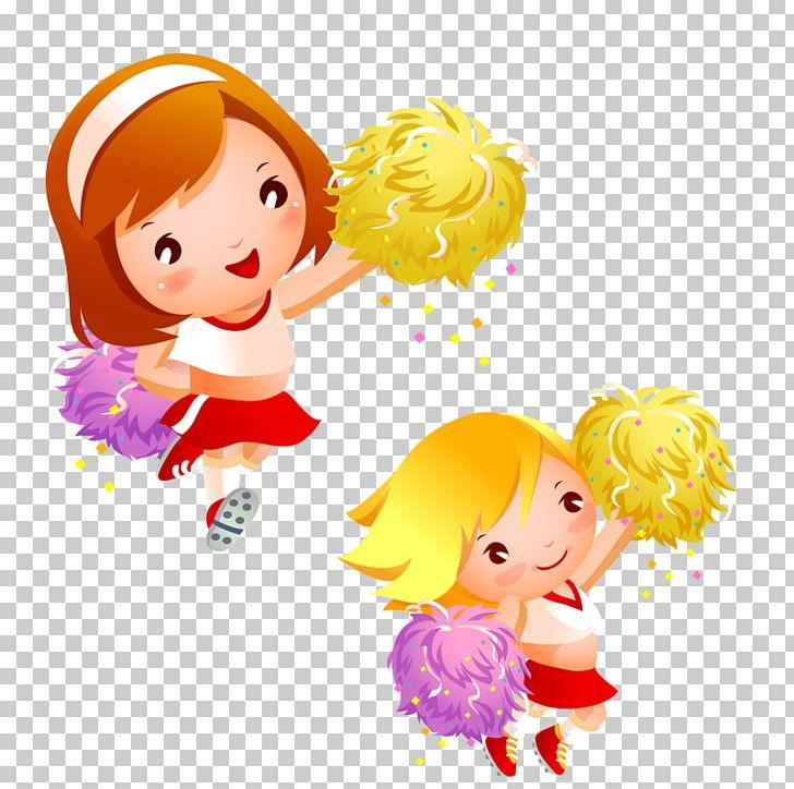 Cartoon cheerleader png board. Cheer clipart child