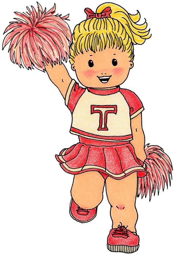 Cheer clipart child. Cheerleader sports theme teaching